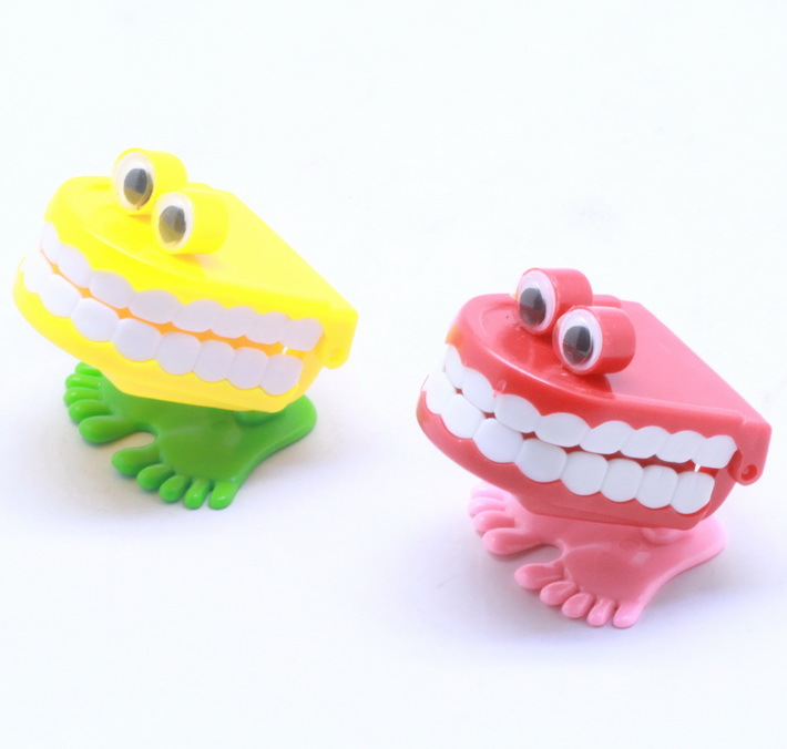 New Wind Up Teeth Toy Kids Baby Classic Plastic Toys Learning Educations Toys -Pinata Wedding Kits(China (Mainland))