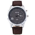 2016 Big Brand Quartz Watch Men Fashion Sports Watch High Quality PU Leather Wristwatch Relogio Masculino