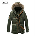 Clearance Cheap Fur Collars Cotton Jacket Europe And America Long Hooded Thickening Coat Man Cotton