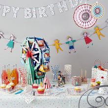 Kids Birthday Party Dress Animal Hand in Hand Decorative Bunting Happy Birthday Decoration Flags(China (Mainland))