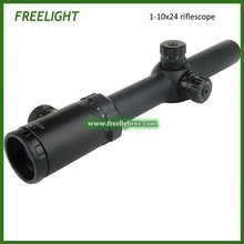 1-10×24 tactical Sniper shooting Rifle scope 10 times zoom Optical Gunsight Ocular adjustable Riflescope Rear Focal plane scope
