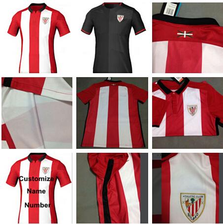 Top Thai 15 16 Athletic Bilbao Jersey Soccer Jersey Bilbao 2015 2016 Football Shirt ADURIZ MUNIAIN Athletic Bilbao Futbol Shirt(China (Mainland))