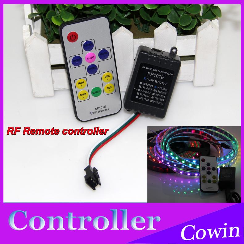 New controller mini Wireless Digital led pixel module strip WS2811 WS2812 WS2812B SP101E RF RGB LED Controller(China (Mainland))