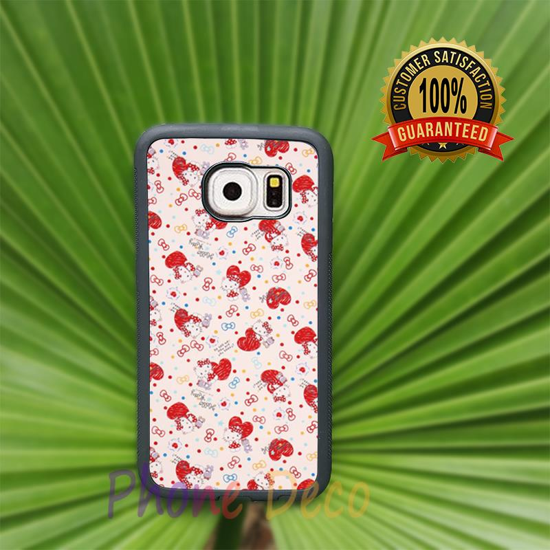 hello kitty sanrio fashion cell phone cases for Samsung S3 S4 S5 S6 S6 edge plus S7 S7 edge note2 note3 note4 note5 L3840(China (Mainland))