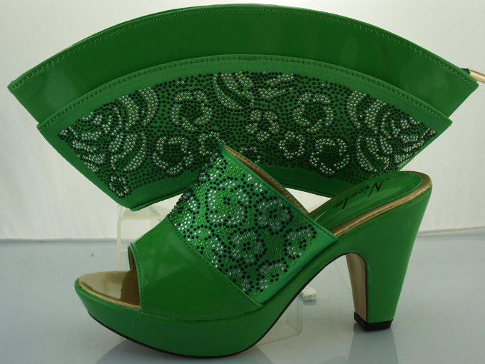 ME2212-A!Top quality Italian ladies shoes and matching bag set,Green color latest pattern African shoes and bag set for party.<br><br>Aliexpress