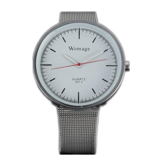 Zegarek damski WoMaGe elegancki klasyczny dwa kolory tarczy