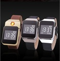 1pcs Multi function Smart Watches with USB Charging Lighters Fashion Creative Electronic Cigarette Lighter for Men