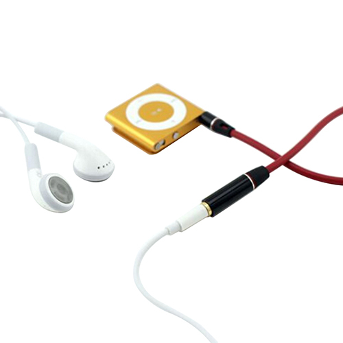 3 5mm Red Male To Female M F Plug Jack Stereo Audio Headphone Extension Cable Cord