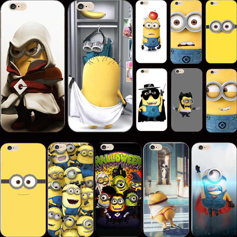 6+/6S+ Cover Despicable Yellow Minion Case Apple iPhone 6Plus 6SPlus Phone Cases Shell Newest - Elite Store For Mobile Accessories_MP3_Jewelry store