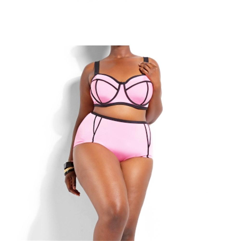 Fat lady and bikini