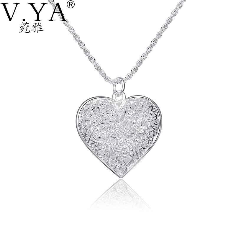 Silver Plated Necklace pendant Frosted Silver-plated fashion jewelry rope / Snake chain KNSP218 - VYA Jewelry Official Store store