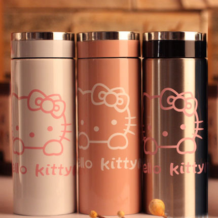 kids drinkware thermos garrafa termica winter mug hello kitty steel stainless vacuum flask black pink childrenA706 - L Snow's Store store