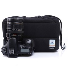 Koolertron Velvet Shockproof SLR DSLR Camera Insert Partition Inner Bag Case Padded Insert Cover Protective Case Bag