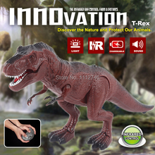 1 piece Remote Control RC toy Tyrannosaurus Rex novelty gifts animal terror toy T-REX size:25*5*13cm  Free  Shipping(China (Mainland))