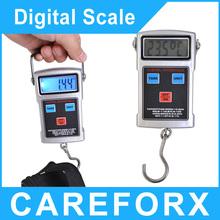 Multifunción 50 KG / 20 G pantalla LCD electrónica Digital escala del equipaje con anzuelo pantalla LCD digitalhanging escala envío gratis
