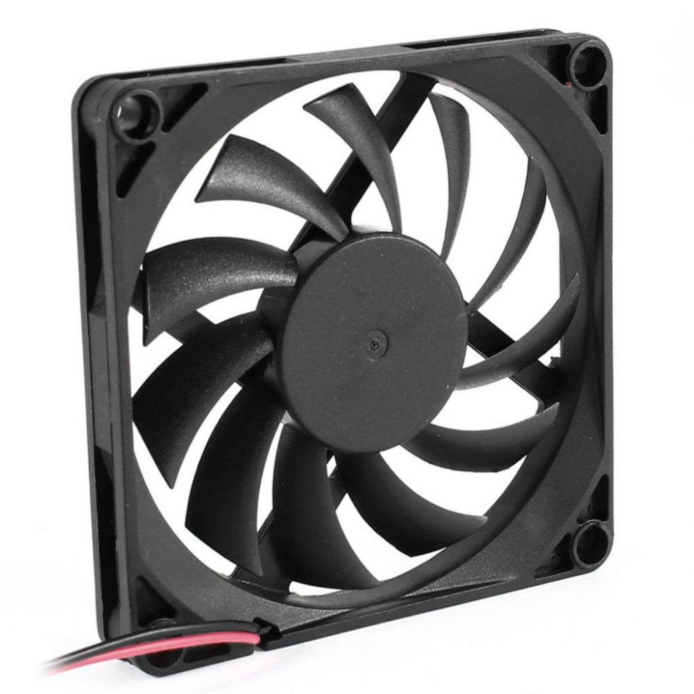 YOC Hot 80mm 2 Pin Connector Cooling Fan for Computer Case CPU Cooler Radiator(China (Mainland))