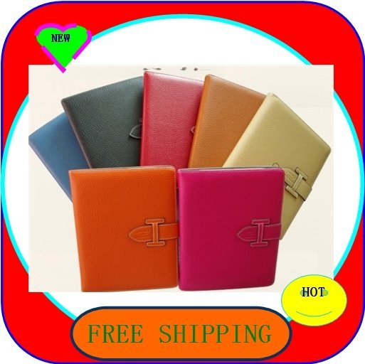 High quality Luxury cowskin leather case for ipad 2case, for new ipad 3 cover  100pcs/lot free dhl shipping