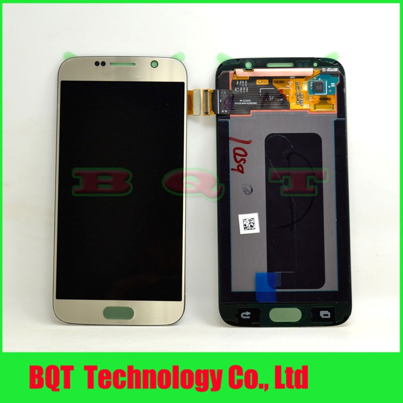 Gold LCD Display For Samsung Galaxy S6 G9200 With Touch Screen Digitizer Assembly 100% guarantee free shipping(China (Mainland))