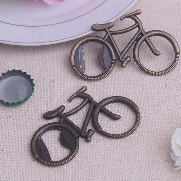 Free shipping Popular Wedding souvenirs Bicycle Bottle Opener Baby show party favors for kids Bike wine opener wedding favors(China (Mainland))