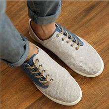 2015 nuovo arrivo moda uomo casual splicing traspirante scarpe casual maschile di canapa comfortabele usura di estate scarpe XMR562(China (Mainland))