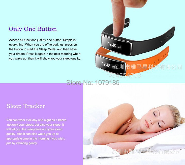 Sport& slee tracking smart wristband, Intelligent wrist band watch,fashion desing 2015,for mobilephone(China (Mainland))