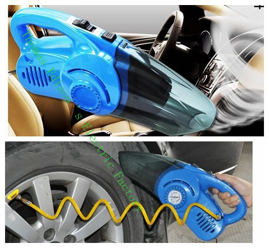 car air pump big power cleaner Car vacuum household automobile vacuum cleaner dry and wet inflatable pump cleaner(China (Mainland))