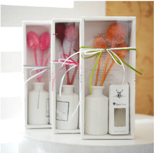 Ceramic cane No fire aromatherapy gift set series Dried flower essential oil fragrance gift Reed Diffuser(China (Mainland))