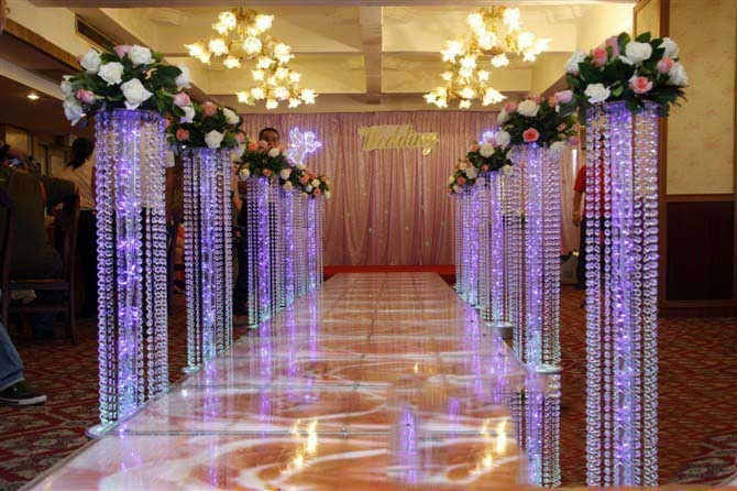 150cm fashion luxury acrylic crystal wedding road lead for Acrylic decoration