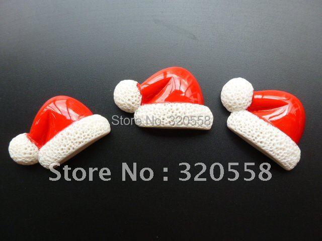 "Christmas hat 50pcs 1.2""  so lovely FlatBack Resins Scrapbooking Embellishment"