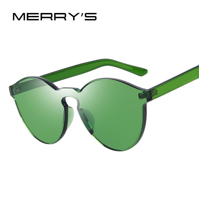MERRY'S Fashion Women Sunglasses Cat Eye Shades Luxury Brand Designer Sun glasses Integrated Eyewear Candy Color UV400(China (Mainland))