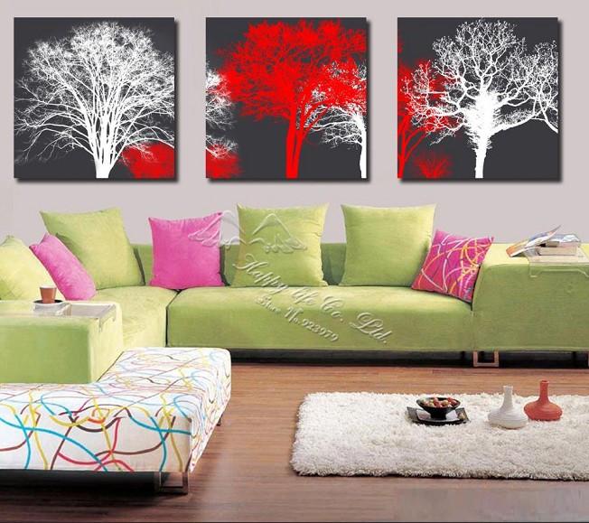 Gratis verzending hete verkopen boom kunst aan de muur for Moderne schilderkunst