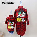 Spring Summer Family Matching Clothing Mother Daughter Clothes Mother Son Outfits Mom Baby Kid Red Plaid
