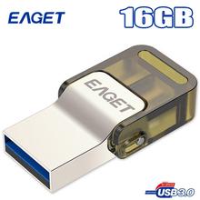 Eaget V60 Otg Usb Flash Drive 16GB Usb 3 0 Micro Usb Double Plug Smartphone Pen