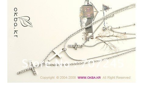 Hot sale!! Free shipping/Cross Long Neclace/Fashion Necklace