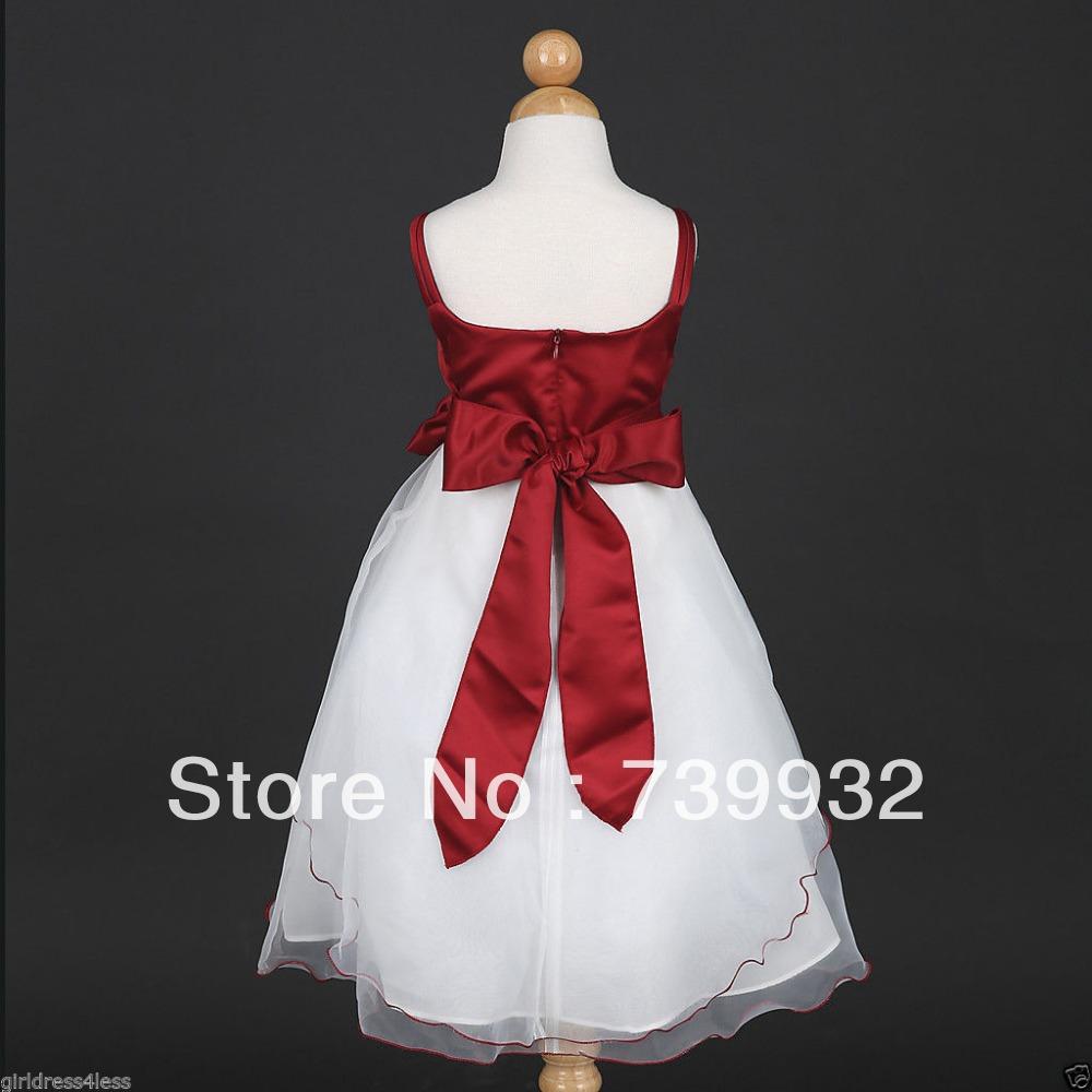 Apple Red Flower Girl Dresses - Cocktail Dresses 2016