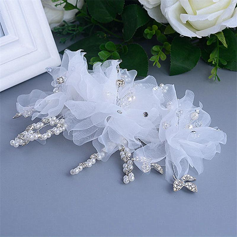 Artificial Flower Tiara Noiva Hair Comb Bridal Headpieces Casamento Joias Wedding Hair Accessories Pearl Head Jewelry WIGO0603(China (Mainland))