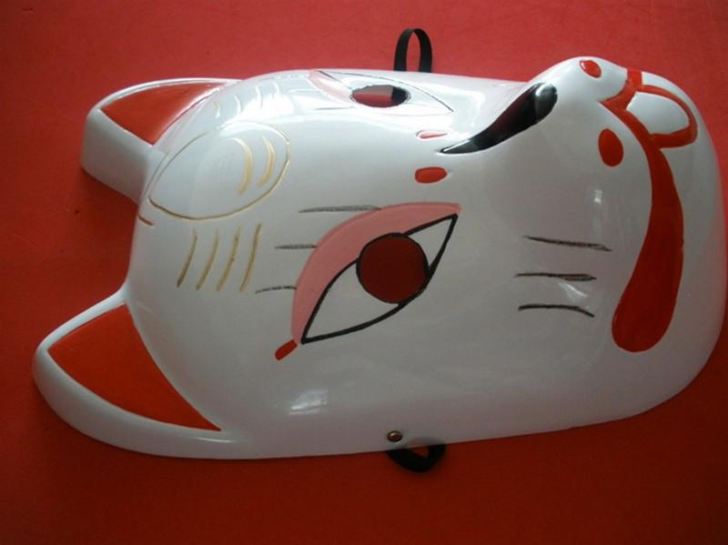Naruto Hatake Kakashi Anbu Japanese Fox Mask Animal Hand-Painted Cartoon Face Mask Demon Kitsune Cosplay Masquerade Carnival (5)