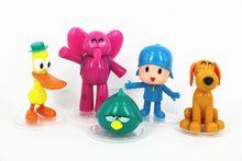 1 set/lote 8 cm pvc pocoyo zinkia pato elefante pássaro cão dos desenhos animados boneca brinquedos Mobiliário artigos brinquedos das Crianças de Férias presentes(China)
