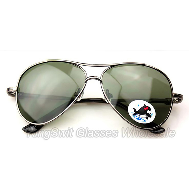 100% polarized Lense Sunglasses For Children kis Metal Rim Frame mirror coating glasses 1pcs Free Shipping