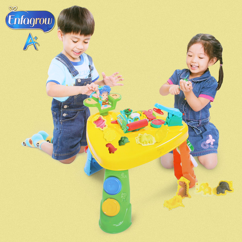 3d playdough dough play table six colors and model education toys for kids(China (Mainland))