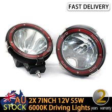 2X 7 INCH 12V55W HID SUV 4WD Off road Driving Lights Spot & Euro beam combo