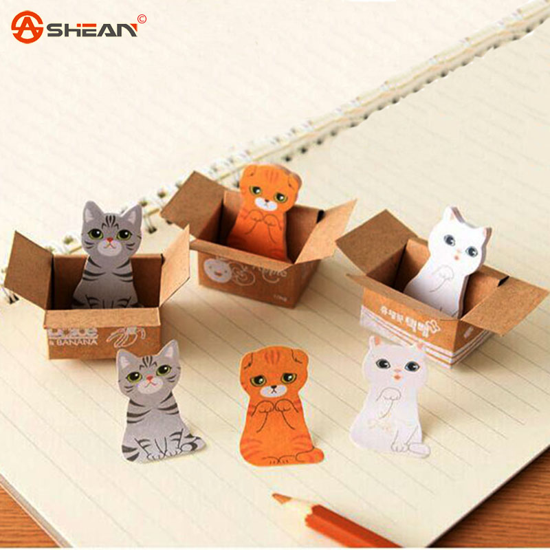 5/pcs Cute Cat and Dog Memo Pads Notepad Sticky Note Label Office Material School Stationery Gift<br><br>Aliexpress