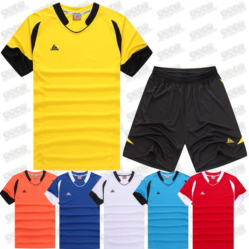 2016 New Men Soccer Jersey Football Clothing Paintless Summer Sportswear Set Male Breathable Soccer Football custom made(China (Mainland))