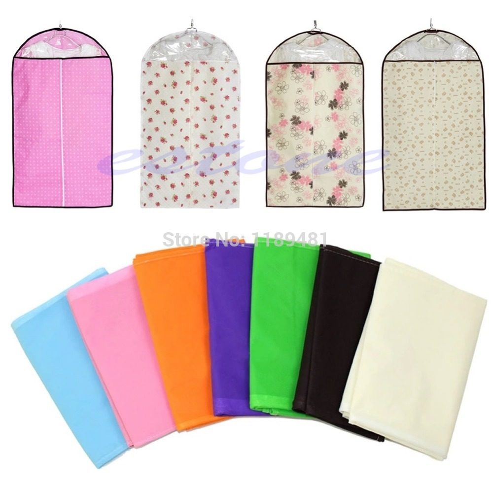 F85 Free Shipping Home Dress Clothes Garment Suit Cover Bags Dustproof Storage Protector 3 Size(China (Mainland))