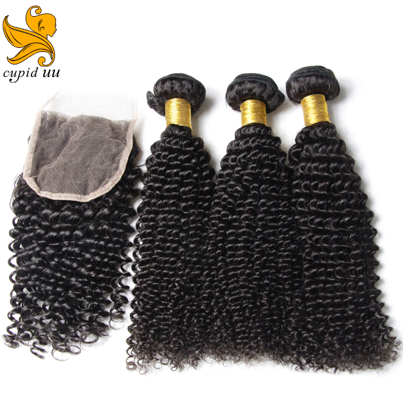 Mongolian Kinky Hair Closure 115