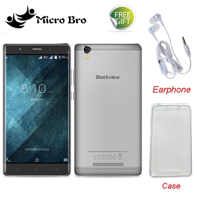 """Чехол + Наушники Подарки! оригинал Blackview A8 MTK6580 5.0 """"Quad Core Android 5.1 Мобильный Сотовый Телефон 1 ГБ RAM 8 ГБ ROM 8MP WCDMA"""