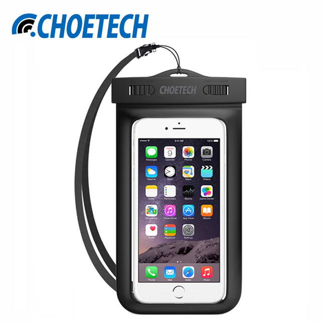 Ясно Водонепроницаемый Мобильный Телефон Сумки с Ремешком Сухой Сумка Случаи Обложка для iPhone 7 7 S Samsung Galaxy S7 Xiaomi Mi5 Snowproof Case