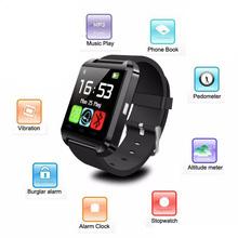 Оригинальный bluetooth-смарт часы U8 как для iphone / 4S / 5 / 5S / 6 и Samsung S4 / примечания / S6 HTC андроид телефонов SmartWatch