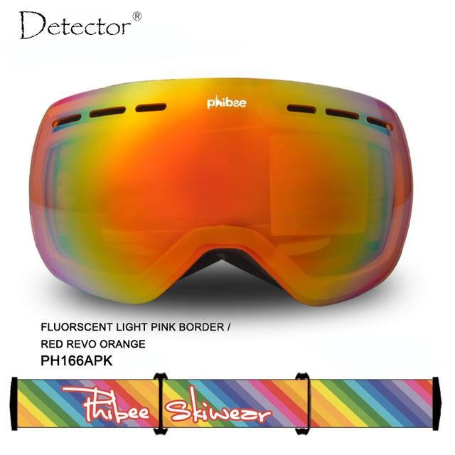 Детектор Лыжные очки двухместный UV400 анти-туман большой лыжная маска очки лыжи мужчины женщины снег сноуборд очки