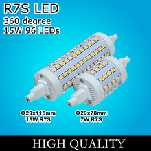 7W 15W R7S LED 78mm J78 118mm J118 96 LEDs Halogen Lamps floodlight Warm white Cold white free shipping